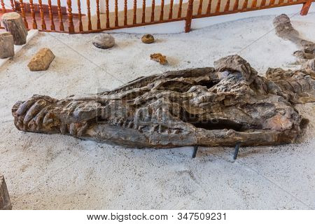 Villa De Leyva, Colombia - February 7, 2017 : Museo Del Fosil dinosaur fossil Museum near Villa de Leyva Boyaca in Colombia South America
