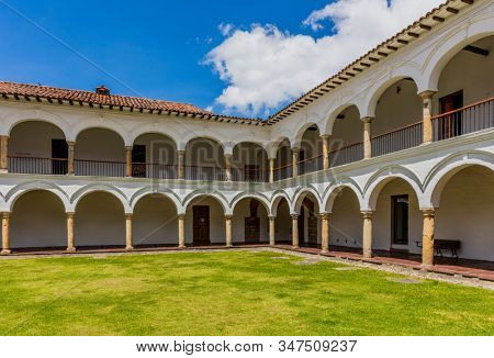 Bogota, Colombia - February 4, 2017 : San augustin cloister in La Candelaria aera Bogota capital city of Colombia South America