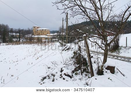 Feb. 04, 2015. Larrabetzu Is A Beautiful Village Located In The Txorierri Valley, In The Heart Of Bi