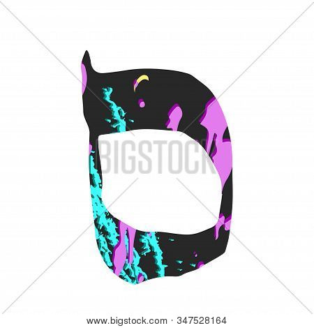 Hebrew Alphabet Colored. Hebrew Font Multicolored Letters. Purim. Vector Illustration On Isolated Ba
