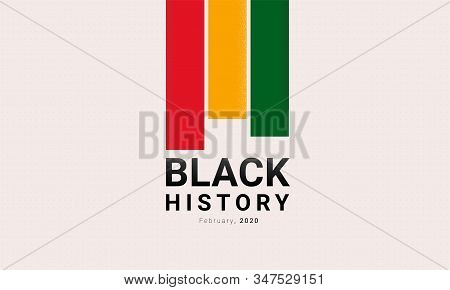 Black History Month Red, Yellow And Green Stripes Banner Template. African-american History Month -