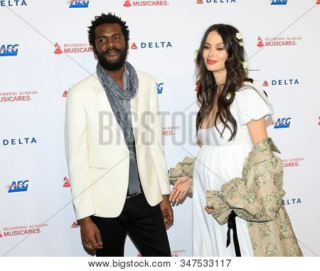 LOS ANGELES - JAN 24:  Gary Clark Jr, Nicole Trunfio at the 2020 Muiscares at the Los Angeles Convention Center on January 24, 2020 in Los Angeles, CA