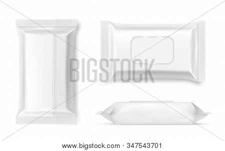 Wet Wipes Packing, Antibacterial Napkins Container Mockup