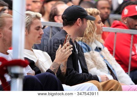 LOS ANGELES - JAN 23:  Justin Bieber at the Sir Lucian Grange Star Ceremony on the Hollywood Walk of Fame on JANUARY 23, 2019 in Los Angeles, CA