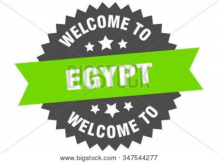 Egypt Sign. Welcome To Egypt Green Sticker