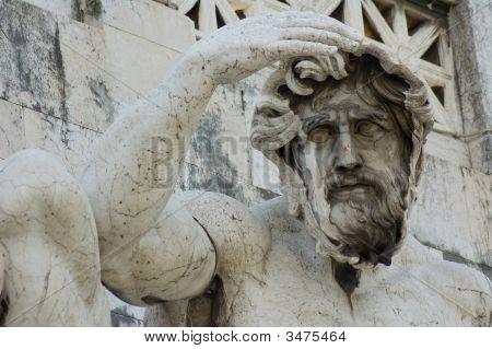 Statue In Capitoline Museum, Rome, Italy