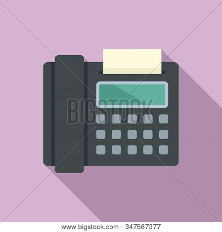 Fax Telephone Icon. Flat Illustration Of Fax Telephone Vector Icon For Web Design