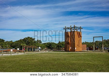 Ft. Pierce,fl/usa-1/27/20: An Example Of The Obstacle Course And Physical Fitness Training That The