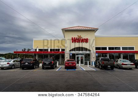 Orlando,fl/usa-1/27/20: The Wawa Gas Station, Fast Food Restaurant, And Convenience Store.