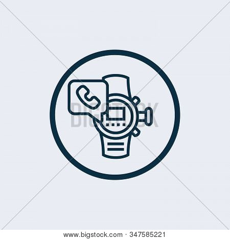 Smartwatch Icon Vector From Electronic Devices Collection. Thin Line Smartwatch Outline Icon Vector