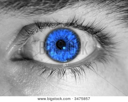 Bright Blue Eye