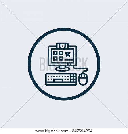Computer Icon Isolated On White Background From Office Collection. Computer Icon Trendy And Modern C