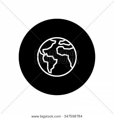 Earth Planet Icon Isolated On Black Background. Earth Planet Icon In Trendy Design Style. Earth Plan