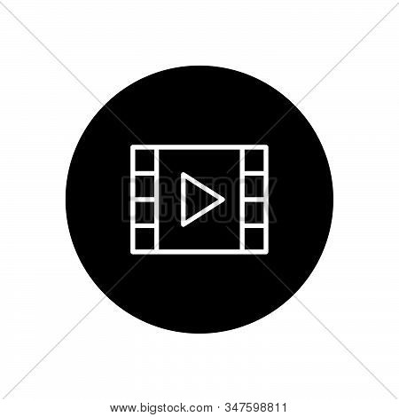 Video Player Icon Isolated On Black Background. Video Player Icon In Trendy Design Style. Video Play