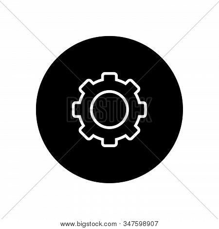 Settings Icon Isolated On Black Background. Settings Icon In Trendy Design Style. Settings Vector Ic