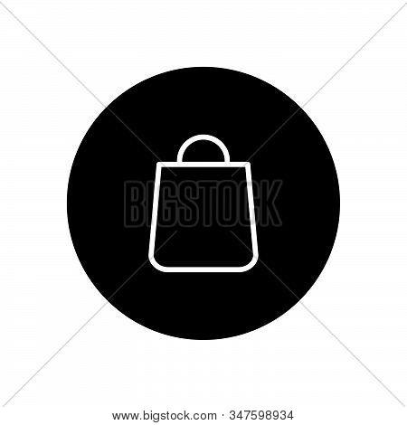 Shopping Bag Icon Isolated On Black Background. Shopping Bag Icon In Trendy Design Style. Shopping B