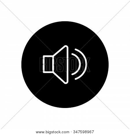 Sound Icon Isolated On Black Background. Sound Icon In Trendy Design Style. Sound Vector Icon Modern