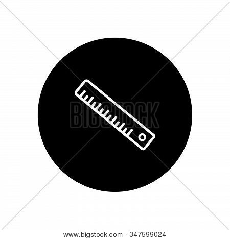 Ruler Icon Isolated On Black Background. Ruler Icon In Trendy Design Style. Ruler Vector Icon Modern