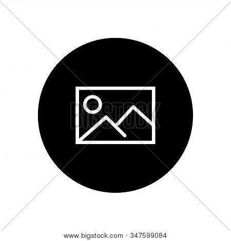 Picture Icon Isolated On Black Background. Picture Icon In Trendy Design Style. Picture Vector Icon
