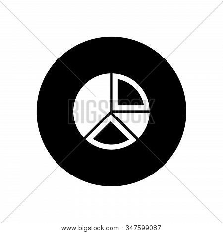 Pie Chart Icon Isolated On Black Background. Pie Chart Icon In Trendy Design Style. Pie Chart Vector