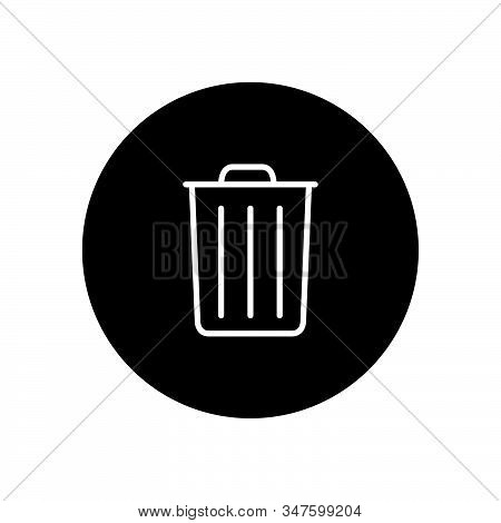 Trash Can Icon Isolated On Black Background. Trash Can Icon In Trendy Design Style. Trash Can Vector