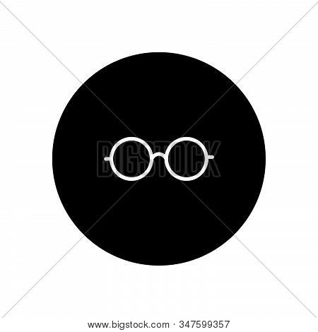 Glasses Icon Isolated On Black Background. Glasses Icon In Trendy Design Style. Glasses Vector Icon