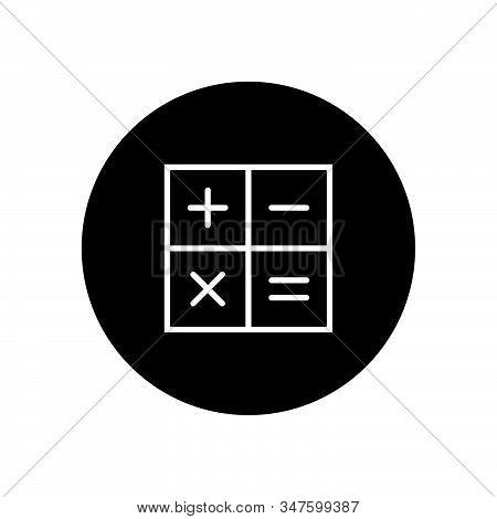 Calculator Icon Isolated On Black Background. Calculator Icon In Trendy Design Style. Calculator Vec