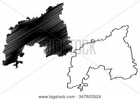Khomas Region (regions Of Namibia, Republic Of Namibia) Map Vector Illustration, Scribble Sketch Kho