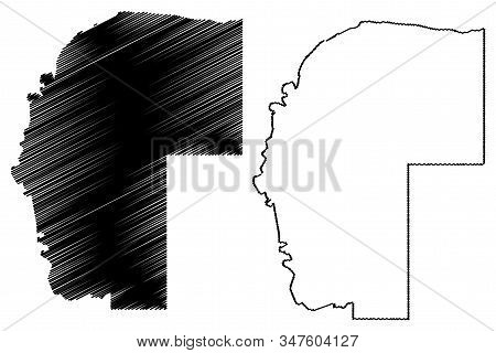 Omaheke Region (regions Of Namibia, Republic Of Namibia) Map Vector Illustration, Scribble Sketch He