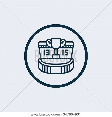 Scoreboard Icon Vector From Soccer Collection. Thin Line Scoreboard Outline Icon Vector Illustration
