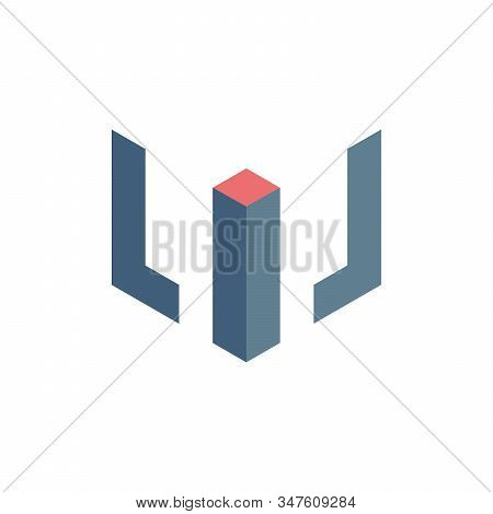 Lil Cube Logo Design Icon. Vector Illustration. Design