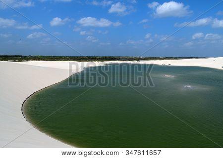 A Big Lagoon In Jericoacoara Np, Brazil