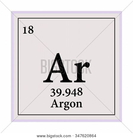 Argon Periodic Table Of The Elements Vector Illustration Eps 10.