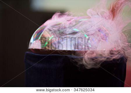 soap bubbles  colorful show closeup