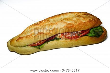 Spoiled Sandwich, Rotten Moldy Inedible Expired Food, Isolated On White Background.
