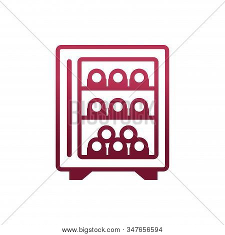 Wine Bottles Cellar Design, Winery Alcohol Drink Beverage Restaurant And Celebration Theme Vector Il