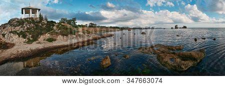Panorama Landscape Coastline. Kerch. Crimea. Landscape Of A Coastline. Crimea.coastline In Autumn.