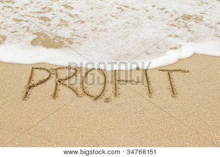 Word Profit On The Sand