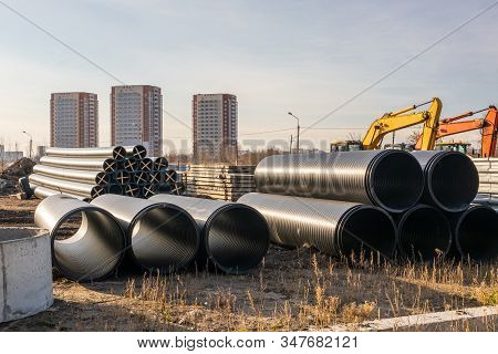 Hdpe, Pe Pipes Are Designed For Construction Of Pipelines For Drinking Water And Fire Water, Pressur