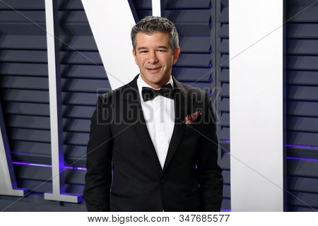 BEVERLY HILLS - FEB 24: Travis Kalanick at the 2019 Vanity Fair Oscar Party at The Wallis Annenberg Center for the Performing Arts on February 24, 2019 in Beverly Hills, CA