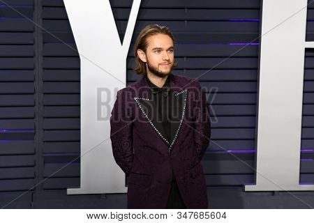 BEVERLY HILLS - FEB 24: Zedd at the 2019 Vanity Fair Oscar Party at The Wallis Annenberg Center for the Performing Arts on February 24, 2019 in Beverly Hills, CA