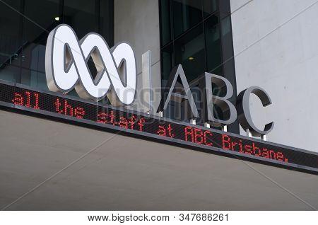 Brisbane, Queensland, Australia - 10th January 2020 : Abc (australian Broadcasting Corporation) Logo