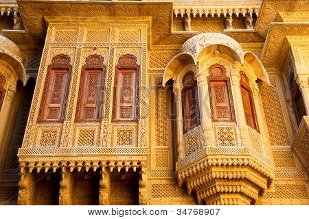 Haveli in Jaisalmer India poster