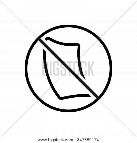 Black Line Icon For Paperless Cancel Invalidation Defeasance Automatic Bureaucracy Paperfree