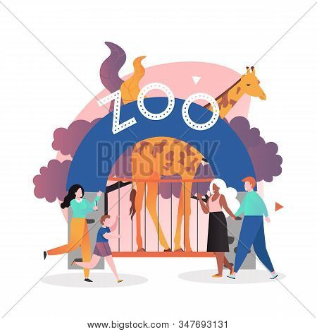 Zoo Vector Concept For Web Banner, Website Page