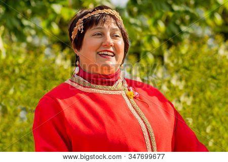 Petrozavodsk,russia-sertember 15th,2019:soloist Of The Folk Song Ensemble