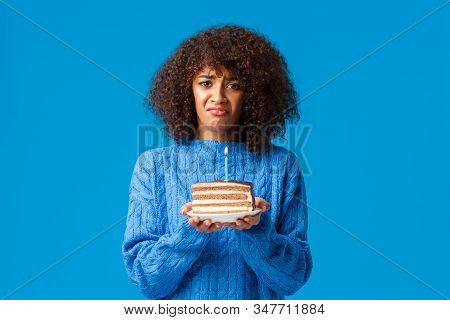 Sad And Gloomy, Depressed Cute African-american Girl Feeling Lonely On Her Birthday, Nobody Came Par
