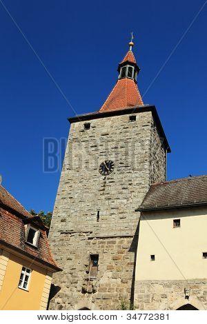The Nuremberg goal in Neustadt Aisch in the summer time.