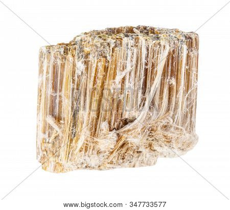 Specimen Of Asbestos Rock Isolated On White