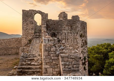 Medieval Ruins On A Hill, Berat, Albania